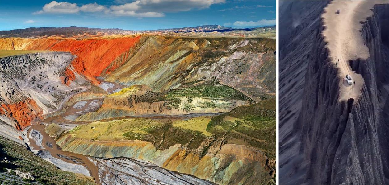 Zobacz spektakularny widok z Wielkiego Kanionu Anjihai w Chinach!