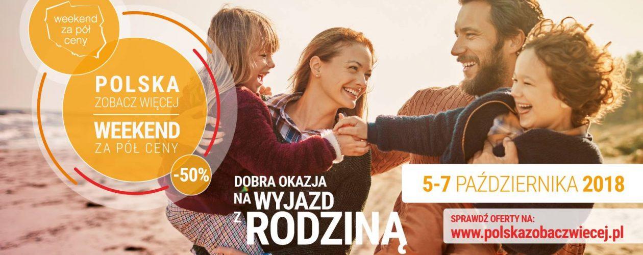 """W całej Polsce od 5 do 7 października potrwa kolejna edycja akcji """"Weekend za pół ceny"""""""