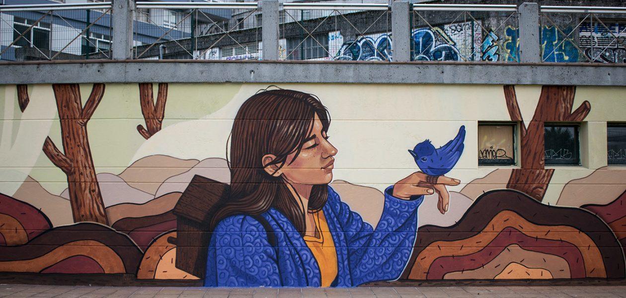 Pełne emocji i wspaniałych kolorów murale hiszpańskiej artystki.