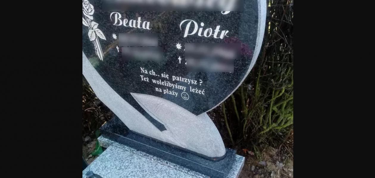 Mocny i kontrowersyjny napis na nagrobku w Poznaniu